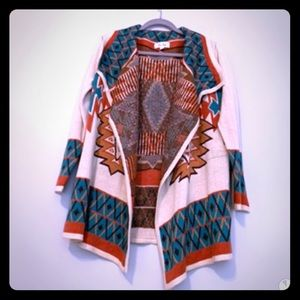 Aztec knit sweater